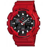 Стильные! Спортивные Часы Casio G-Shock ga-100 RED (касио джи шок красные (Наручний годинник)