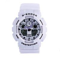 Стильные! Спортивные Наручные Часы Casio G-Shock ga-100 (касио джи шок) White  (стильные, спортивные) (Наручний годинник)