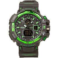 Спортивные часы Casio G-Shock GWA-1100 (касио джи шок) Black-Geen Тренд 2017!
