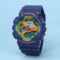 Спортивные часы Casio G-Shock  Ga-110 (касио джи шок) Dark Blue класса AAA