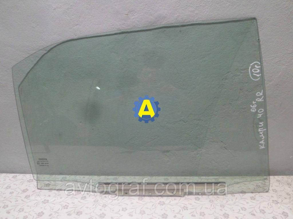 Скло двері задньої лівої і правої на Тойота Камрі (Toyota Camry) XV40 2006-2011