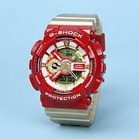 Спортивные часы Casio G-Shock  Ga-110 (касио джи шок) Gold Red класса AAA