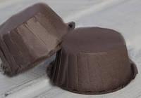 Тарталетка бумажная для кексов/маффинов коричневая с бортиком, дно 5,5 с