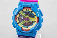 ЯРКИЕ!! Женские  часы Casio G-Shock  GA-110 AZURE-ROSE (касио джи шок)