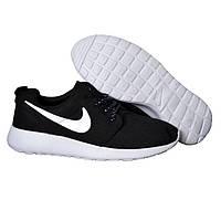 МОДНЫЕ! кроссовки Nike Roshe Run Black (найк черные) мужская спортивная обувь размер 36, 38