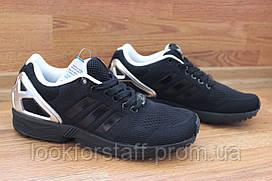 Легендарная модель Adidas ZX Flux All Black (адидас) размер 41