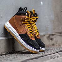 ЗНАМЕНИТЫЕ! мужские кроссовки Nike Lunar Force 1 Duckboot Brown  (найк лунар) размер 44