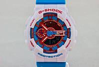 Стильные унисекс часы Casio G-SHOCK GA-110 AZURE-WHITE  (касио джи шок)