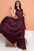 Длинное вечернее платье цвета марсала  р. S, M, L, XL