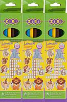 Олівець Zibi 2420 6 кольорів уп24