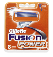8 шт\уп.-Сменные кассеты  GILLETTE FUSION POWER (жиллет фусион пауэр) 5 ЛЕЗВИЙ картриджи для бритья. Германия. ОРИГИНАЛ !