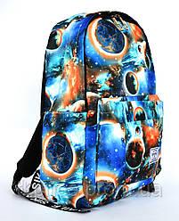 Школьный рюкзакс оригинальным принтом 2838