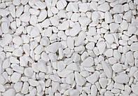 Мраморная галька белая Тассос 0-10 мм