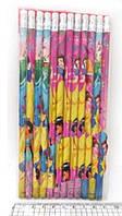 """Олівець простий K2001-PR """"Принцеси"""" чорнографітний з ластиком уп144"""