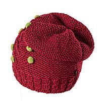 Польская женская шапка- чулок Tree TM Loman, полушерстяная, бордовый  цвет