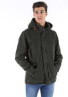 Мужская брендовая куртка-парка BLEND Parka Зеленая