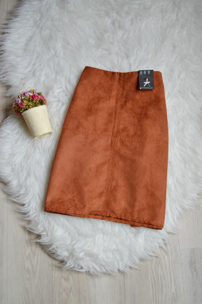 Новая короткая юбка-трапеция под замшу Atmosphere