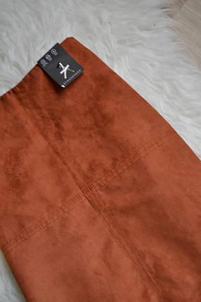 Новая короткая юбка-трапеция под замшу Atmosphere, фото 2