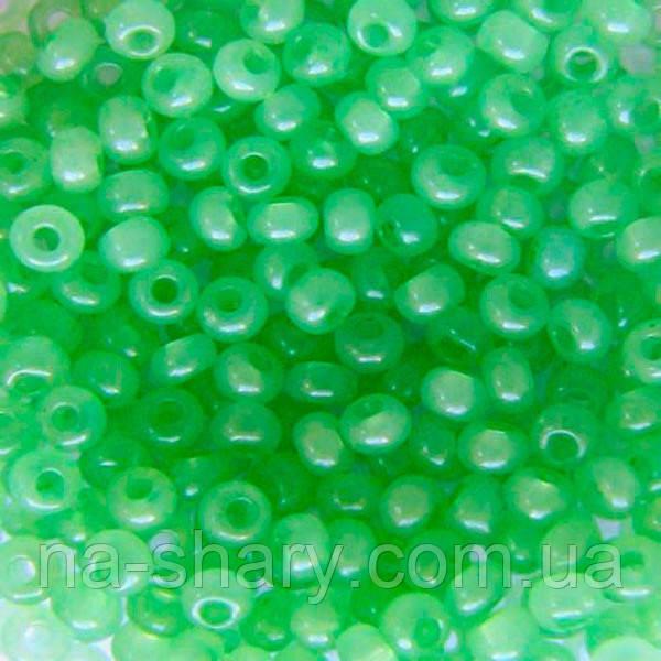 Чешский бисер для рукоделия Preciosa (Прециоза) оригинал 50г 33119-02161-10 Зеленый