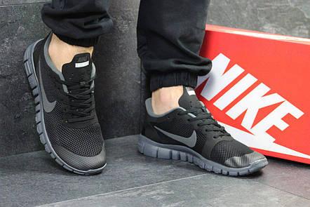 bc5a5ba1 Мужские летние кроссовки Nike Free Run 3.0,черные с серым: продажа ...