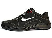 40 и 42 р Мужские кроссовки в стиле Найк черного цвета (Ю-32ч)