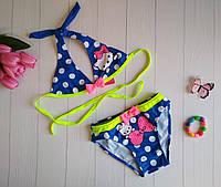 Раздельный купальник на завязках для девочки 28-36 р Хэлло Китти