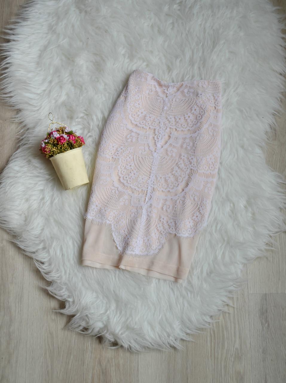 Короткая юбка с кружевом Missguided