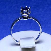 Серебряное кольцо с цирконием сапфировым кс 1110сап