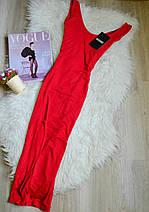Новое красное миди платье с разрезом Missguided, фото 3