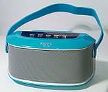 Акустична Bluetooth-колонка зі світломузикою WSTER WS-Y96, blue, фото 3