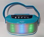 Акустична Bluetooth-колонка зі світломузикою WSTER WS-Y96, blue, фото 4