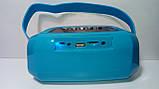 Акустична Bluetooth-колонка зі світломузикою WSTER WS-Y96, blue, фото 7