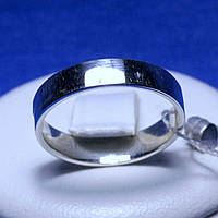 Гладкое серебряное кольцо Американка кс 1311