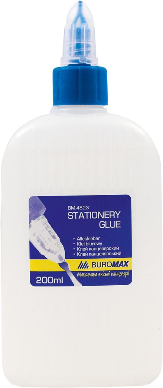 Клей канцелярський JOBMAX 200 мл, ковпачок-дозатор BUROMAX