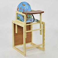 Детский стульчик для кормления Мася Бабочки (64139) Голубой