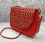 Красная сумочка с камушками, фото 7