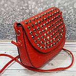 Красная сумочка с камушками, фото 2