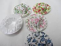 Шляпки в цветочек, д-5 см, в-1,5 см, 10/8 (цена за 1 шт. +2 грн.)