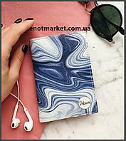 """Обложка на паспорт """"Blue illusion"""", фото 1"""
