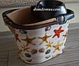 """Ведро Моп с декором для швабры с отжимом """"Морские звезды"""" Elif Plastik, Турция, фото 3"""