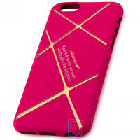 Чехол силиконовый Nillkin Apple iPhone 6 matte pink-gold