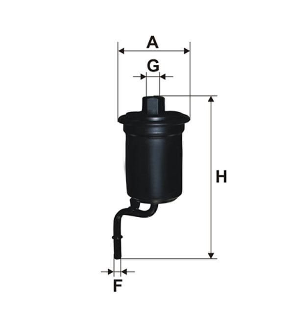 Фильтр топливный WIX WF8376 (PP 918/3)