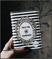 """Обложка на паспорт """"Press for champange"""""""