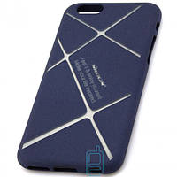 Чехол силиконовый Nillkin iPhone 6 matte blue-silver