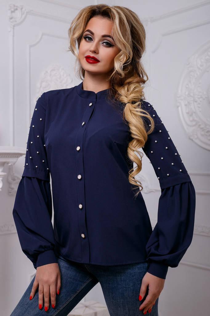 Женский PREMIUM Блуза, цвет: темно-синий