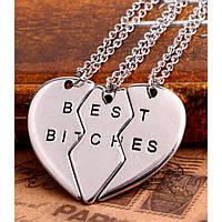 Кулон сердце Best bitches, фото 1