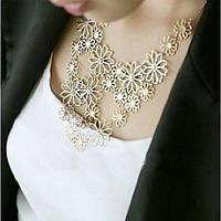 Женское ожерелье цветы