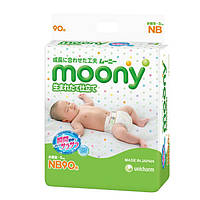 Подгузники для новорожденных ТМ Муни / Moony размер NB (0-5 кг) №90