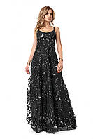 Платье женское, цвет: чёрный, размер: 42, 44, 46