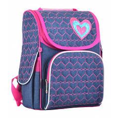 Рюкзак каркасный H-11 Hearts blue, 33.5*26*13.5 (555208)